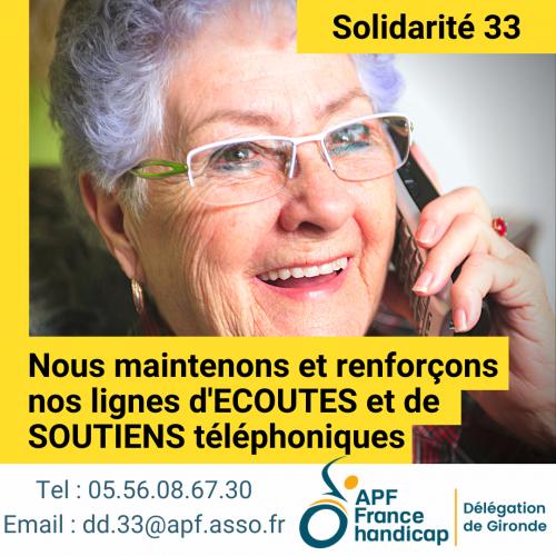 liens téléphoniques, solidarité, soutien, handicap, apf, gironde;