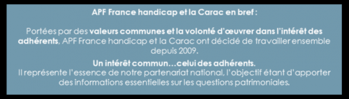 CARAC, APF, handicap, ressources, protéger, partenaire