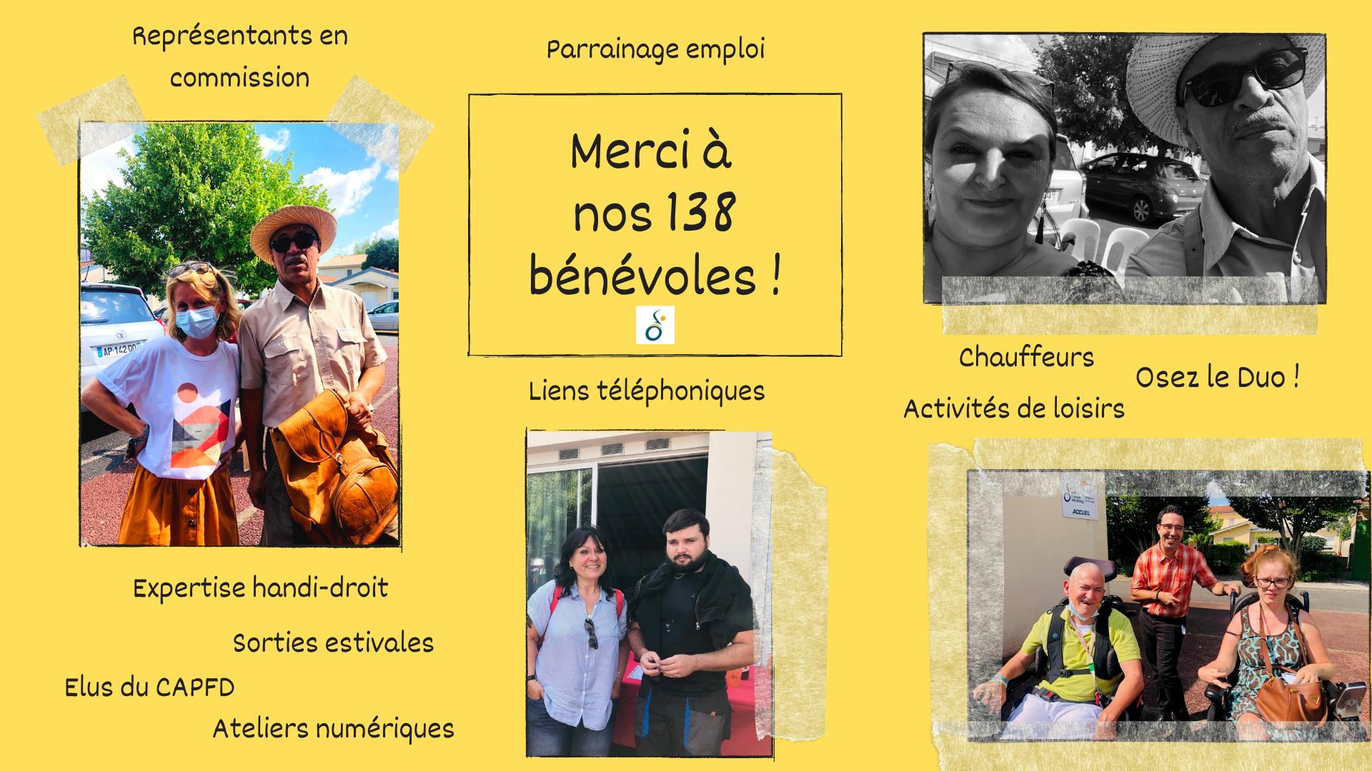 APF, handicap, bénévoles, convivialité, Gironde, droits, sorties, loisirs, chauffeurs, parrainage, emploi, lien téléphonique