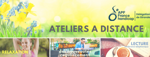 atelier à distance, relaxation, lecture, handicap, apf, gironde