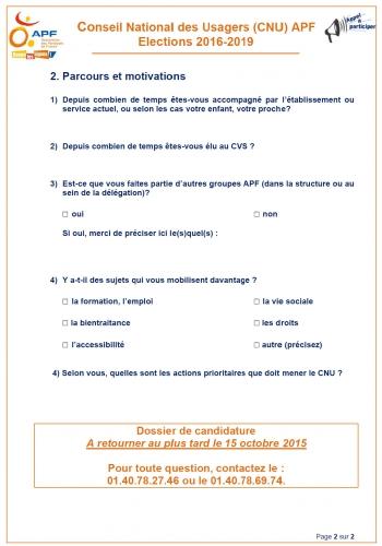 elections du conseil national des usagers  2016