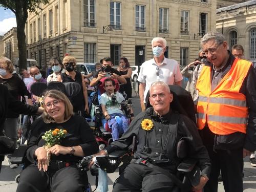 APF, Gironde, handicap, aah, manifestation, bordeaux, 16 septembre 2021, dignité, couple
