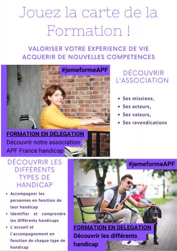 APF;handicap;formation;benevole;adherent